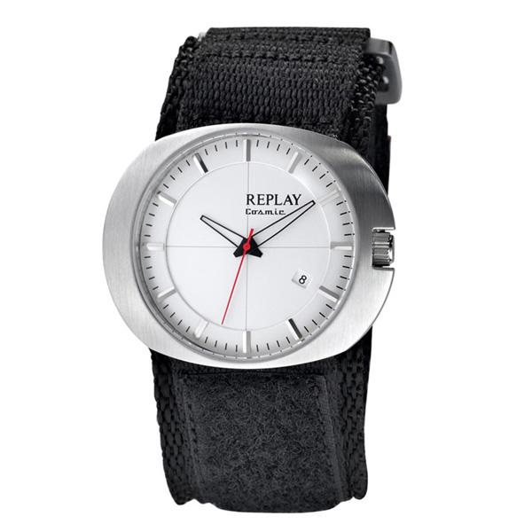 Reloj analógico piel hombre - negro/blanco/plateado