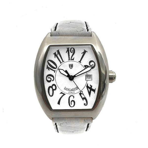 Reloj analógico piel unisex - blanco
