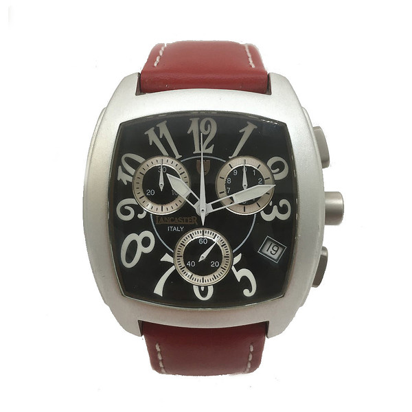Reloj analógico hombre - rojo