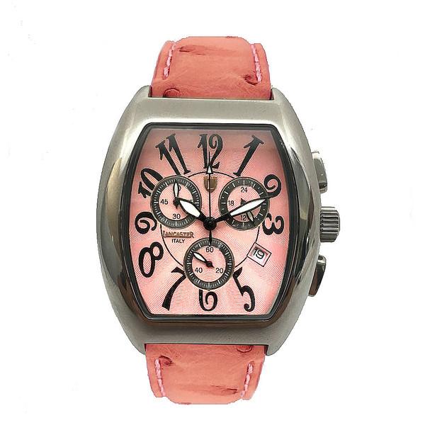 Reloj analógico unisex piel - rosa