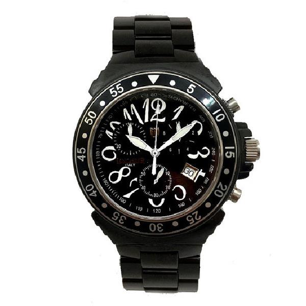 Reloj analógico cerámica unisex - negro