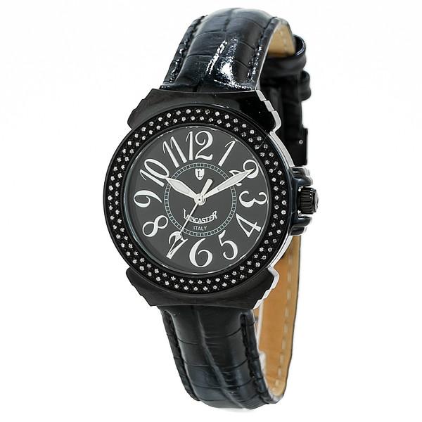 Reloj analógico piel mujer - negro