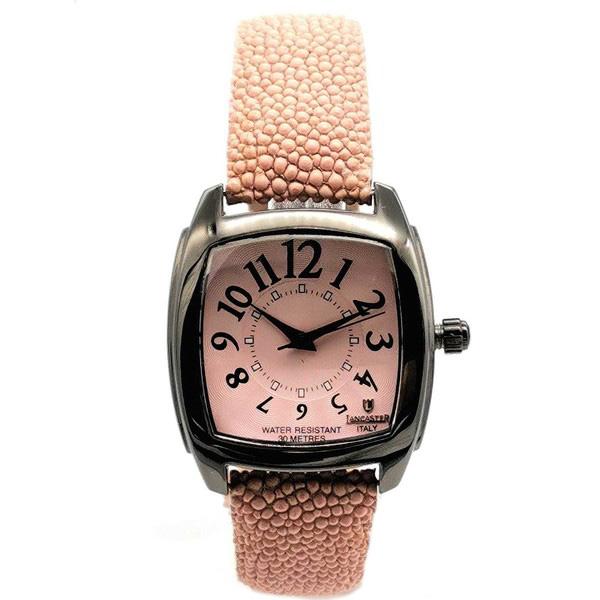 Reloj mujer analógico piel - rosa