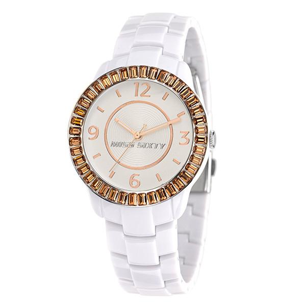 Reloj mujer anal gico policarbonato blanco dorado miss - Policarbonato blanco precio ...