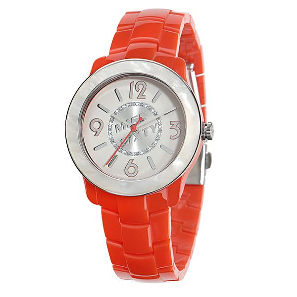 Reloj analógico caucho mujer - rojo