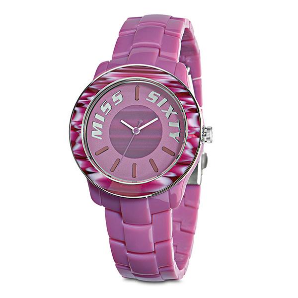 Reloj analógico mujer policarbonato - morado