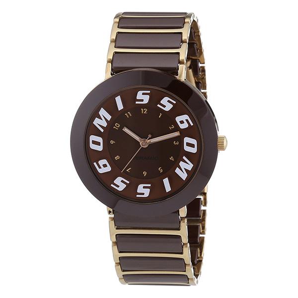 Reloj mujer analógico acero - chocolate/dorado