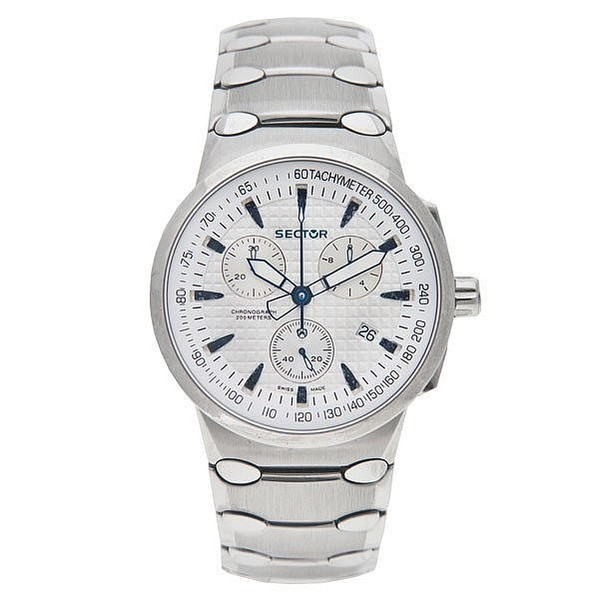 Reloj analógico acero hombre - blanco