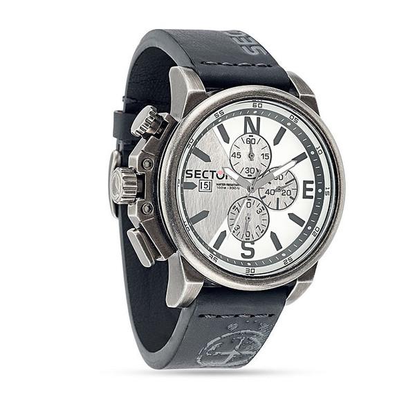 Reloj analógico acero hombre - negro