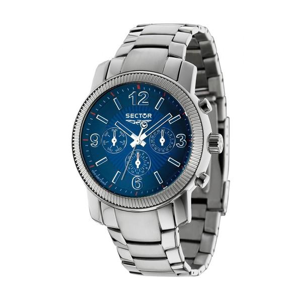 Reloj analógico acero hombre - azul