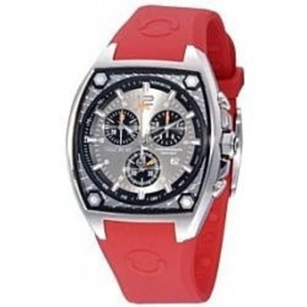 Reloj analógico mujer caucho - rojo