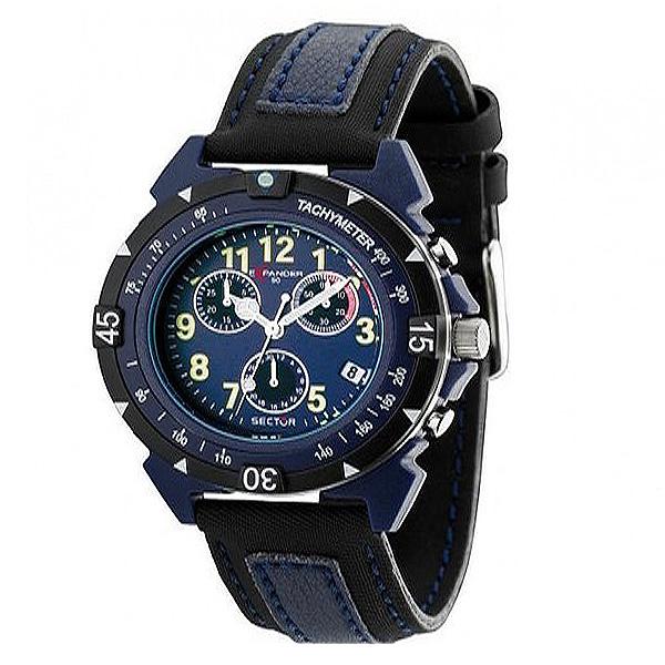 Reloj analógico acero hombre - negro/azul