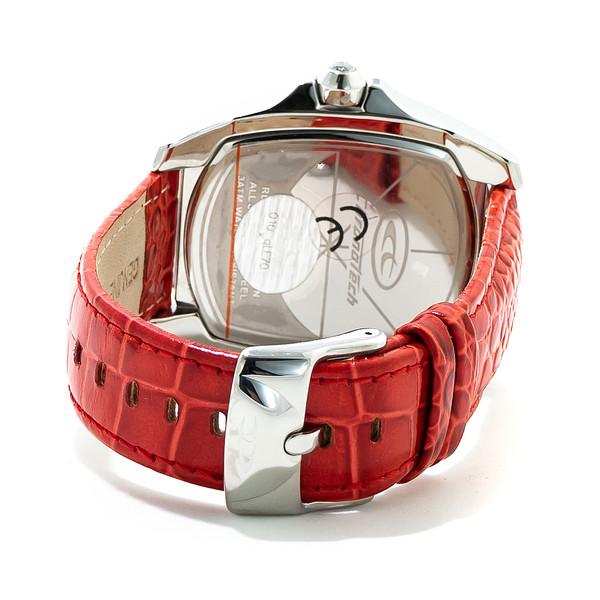 Reloj analógico piel hombre - rojo