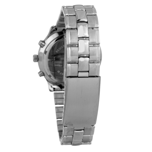 Reloj analógico cronógrafo acero unisex - plateado