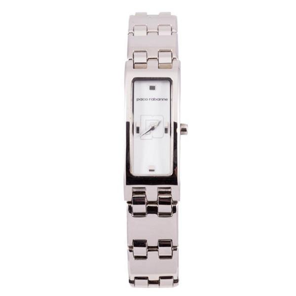 Reloj analógico mujer acero - plateado/blanco