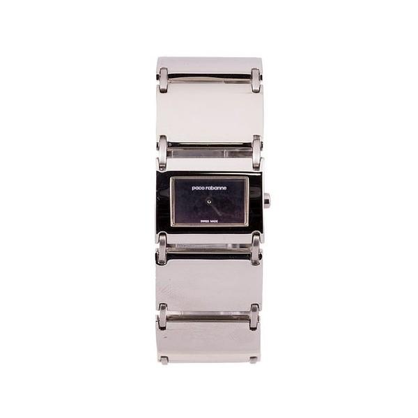 Reloj analógico acero mujer - plateado/negro