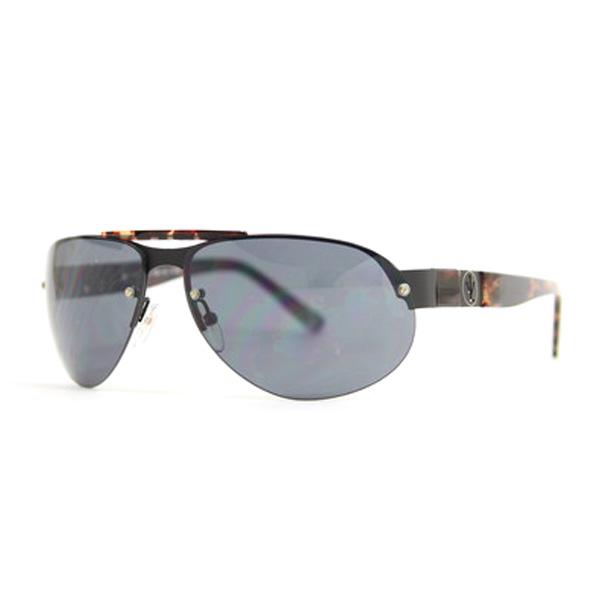 Gafas de sol unisex cal.64 metal - negro/verde