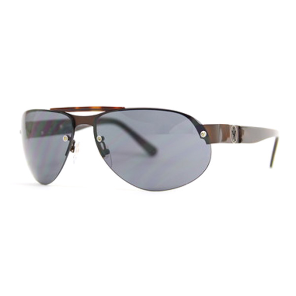 Gafas de sol unisex cal.64 acetato-metal - marrón