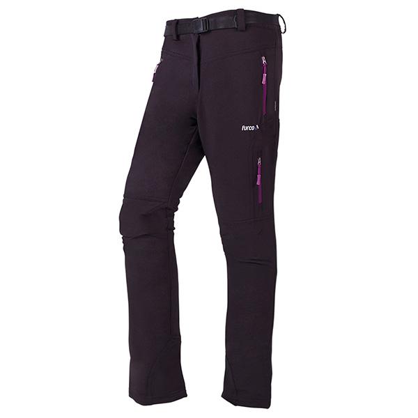 Pantalón mujer - negro/morado