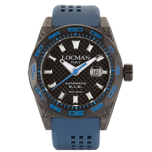 Reloj analógico hombre caucho - azul