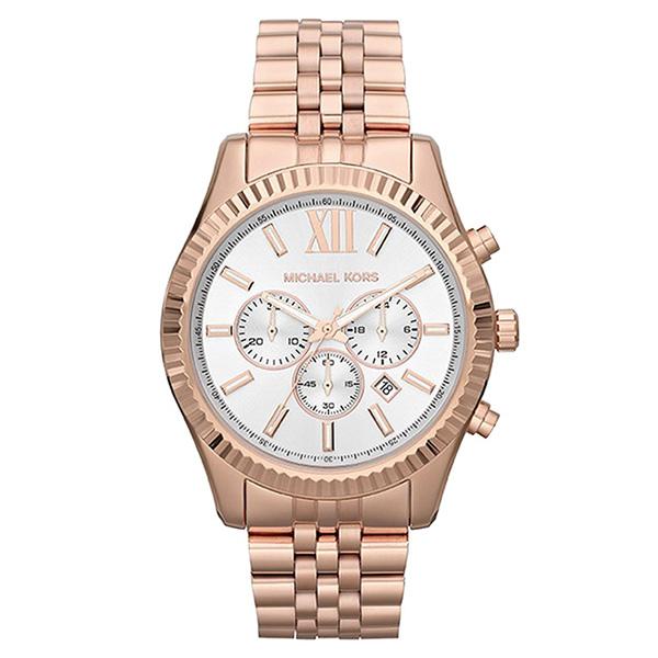 Reloj analógico/cronógrafo acero hombre - rosado