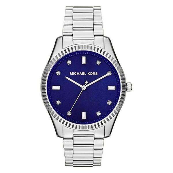 Reloj analógico acero hombre - plateado/azul