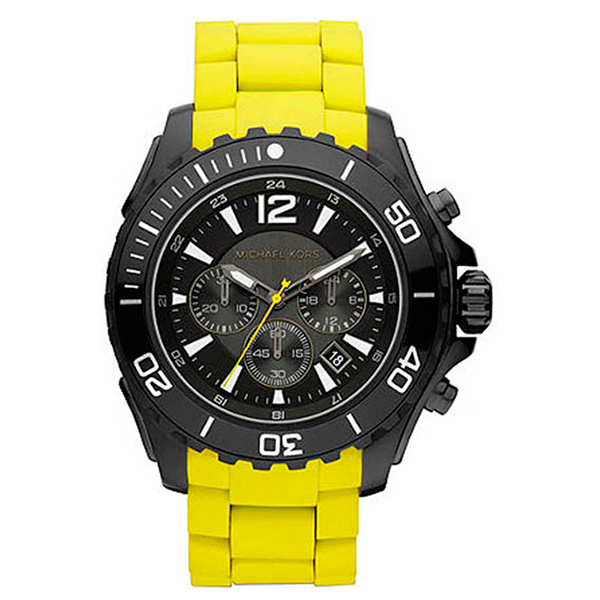 Reloj analógico hombre - amarillo/negro