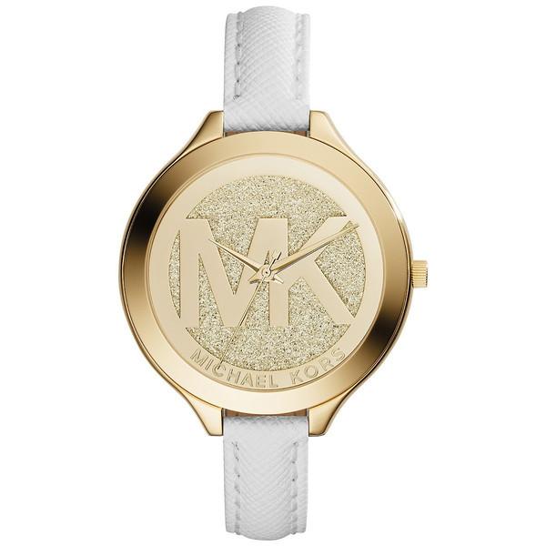 c2efda49fb2d Reloj mujer analógico acero piel - dorado blanco MICHAEL KORS MK2389