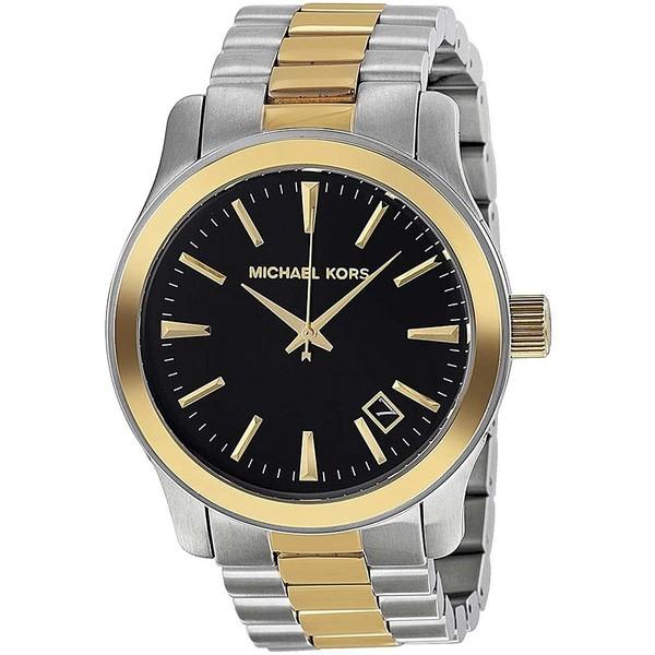 Reloj analógico hombre acero - bicolor