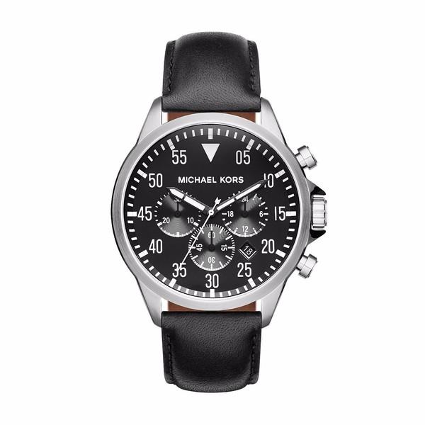 Reloj cronógrafo hombre acero - negro