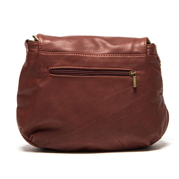 26x30x6cm Bolso solapa borla - marrón