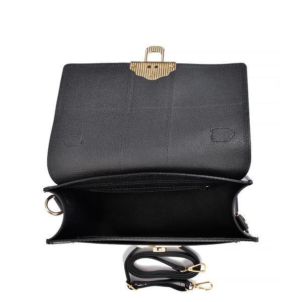 22x27x10,5cm Bolso Top handle  - negro