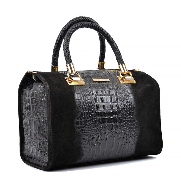 24x32x17cm Bolso Top handle  - negro