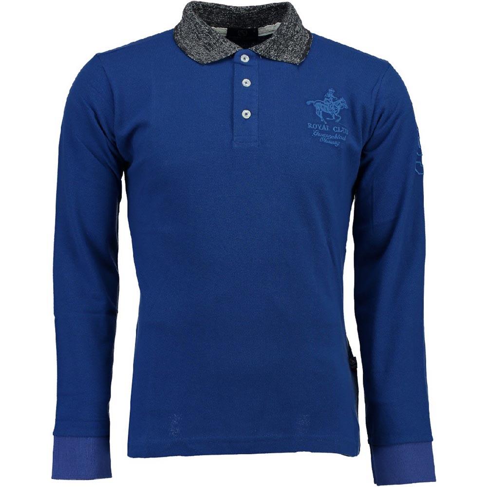 Polo m/larga hombre - azul royal