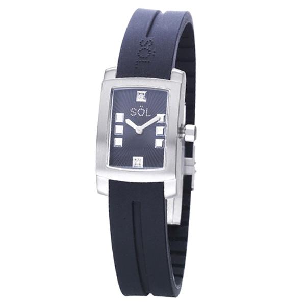 Reloj analógico caucho mujer - negro