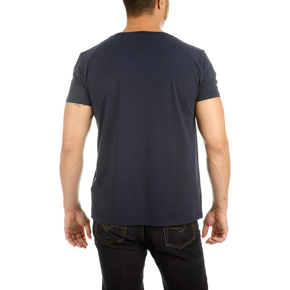 Camiseta m/corta denim hombre - negro iris