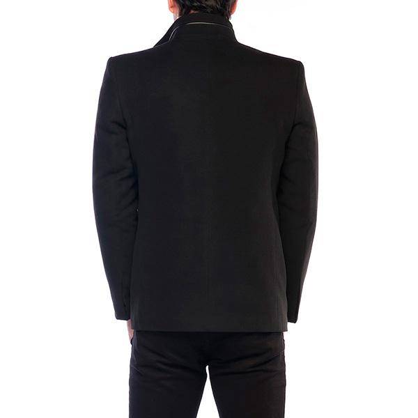 Abrigo liso 4 bolsillos - negro