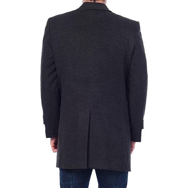 Abrigo largo liso - antracita