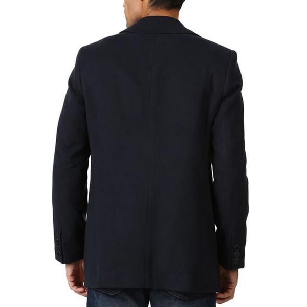 Abrigo largo liso - marino