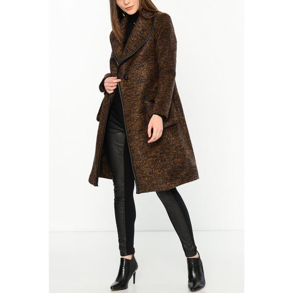 Abrigo mujer - azul oscuro/marrón