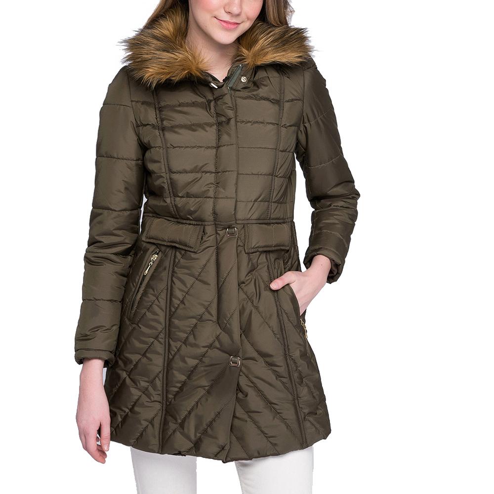 Abrigo mujer - verde caqui