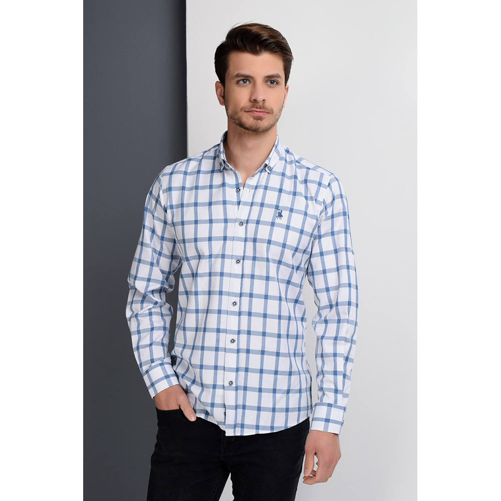 Camisa hombre - azul