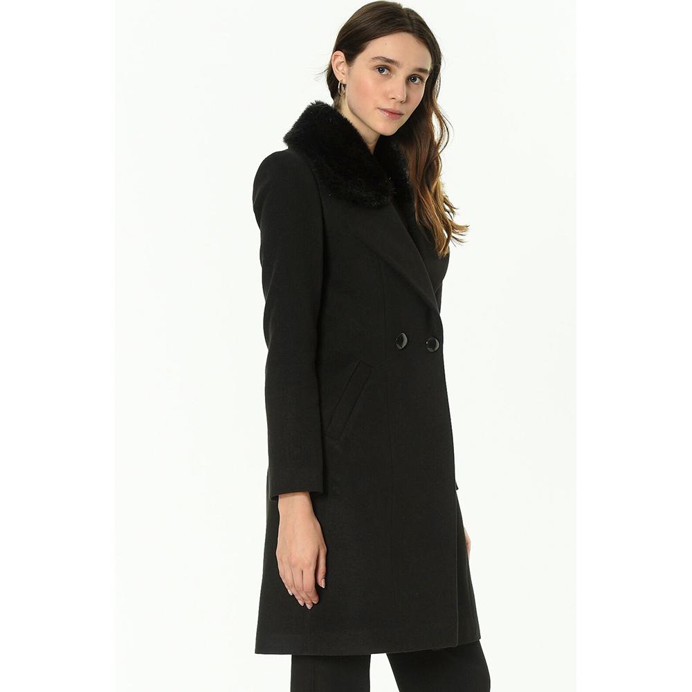 Abrigo largo mujer - negro