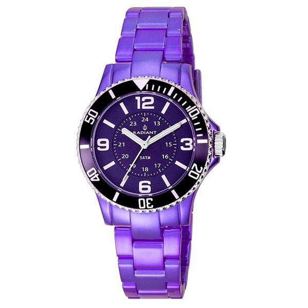 7d2a8897f382 Reloj mujer analógico policarbonato - morado RADIANT RA232212