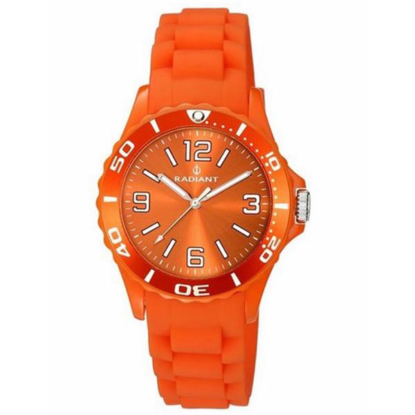 Reloj analógico caucho hombre - naranja