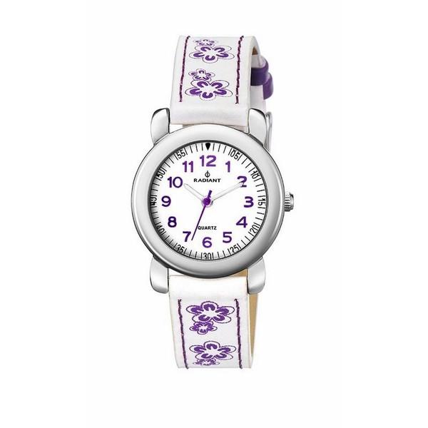 Reloj infantil analógico acero - blanco