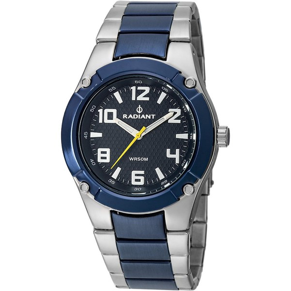 Reloj analógico hombre - azul/plateado