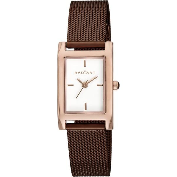 Reloj analógico acero mujer - marrón