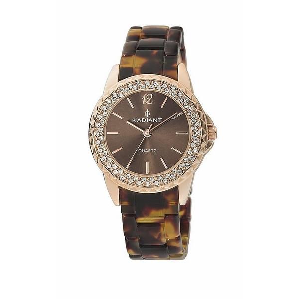 Reloj analógico mujer caucho - marrón