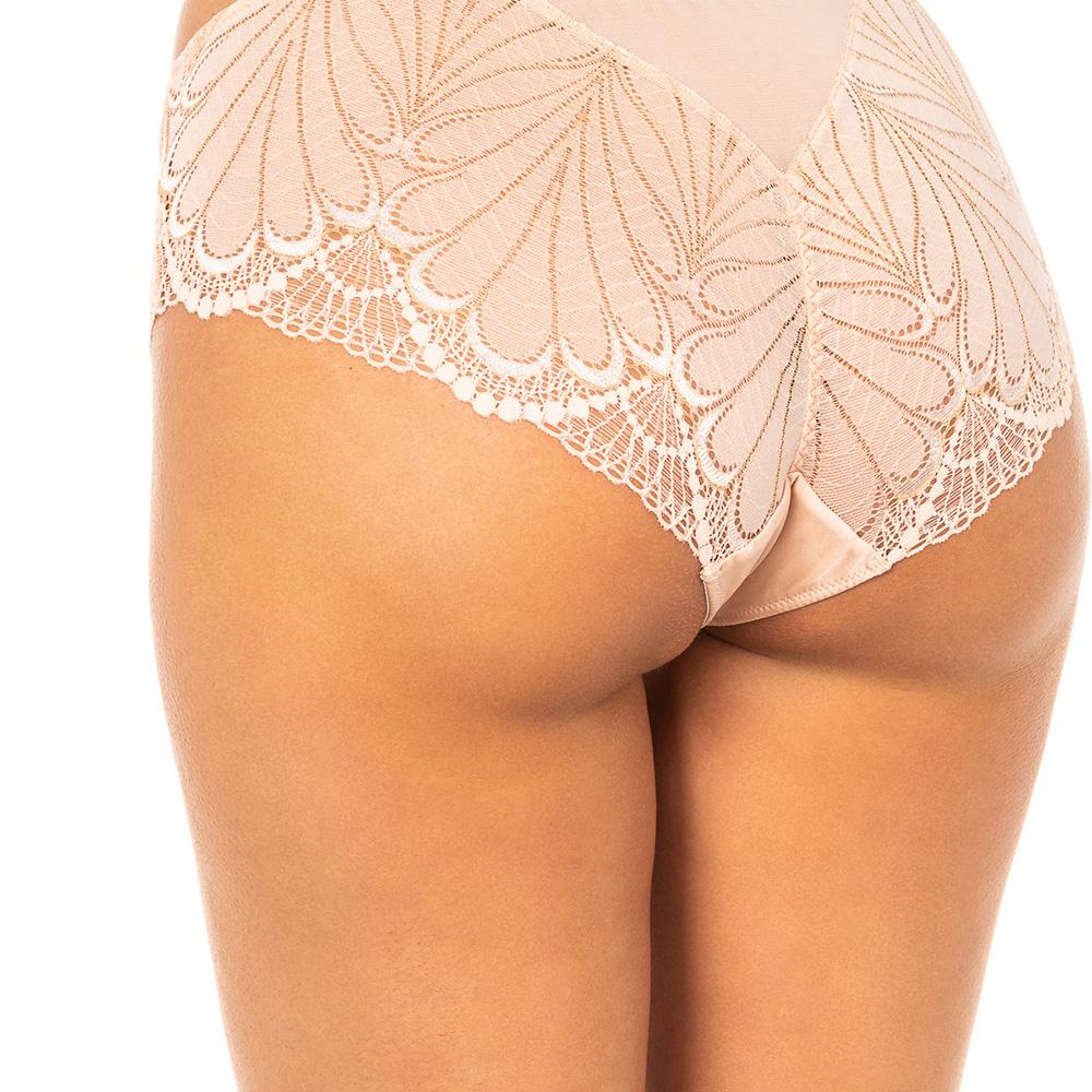 Culotte con encaje - beige